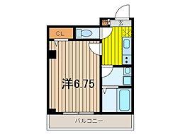 1stブレスト[3階]の間取り