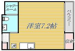 東京都墨田区八広5丁目の賃貸アパートの間取り