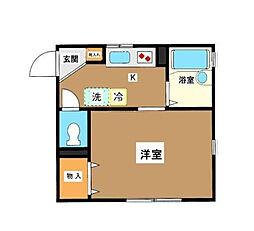東京都世田谷区中町4丁目の賃貸アパートの間取り