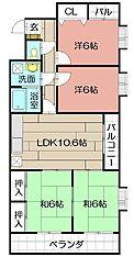 第17共立ビル[1001号室]の間取り