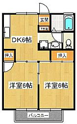 ライトコート石井[2階]の間取り