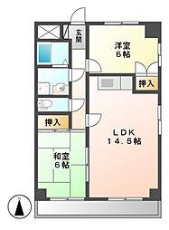 シャトルSUKEMITSU-Ⅰ[3階]の間取り