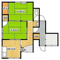 [一戸建] 鳥取県米子市祇園町2丁目 の賃貸【/】の間取り
