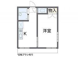 愛知県愛知郡東郷町兵庫2の賃貸アパートの間取り