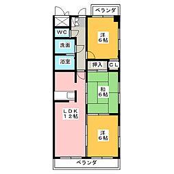 マンション豊島[5階]の間取り