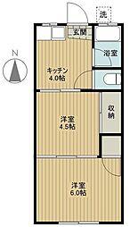 小川コーポ[3号室]の間取り