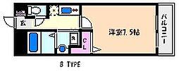 兵庫県神戸市東灘区北青木3丁目の賃貸マンションの間取り