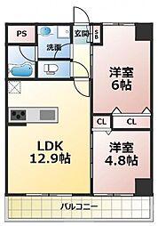 (仮称)新喜多東1丁目新築マンション[5階]の間取り