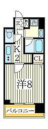 プロシード柏ノール[6階]の間取り