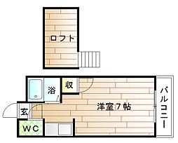 パークサイド赤間[1階]の間取り