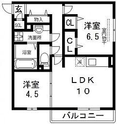 (仮称)D-room吉田[205号室号室]の間取り