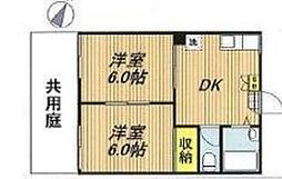 サンコーポ戸田[1階]の間取り