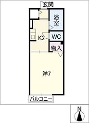 メゾントゥインクル[1階]の間取り