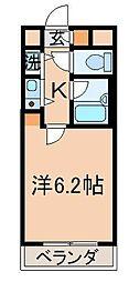 ギャラン黒崎[1203号室]の間取り