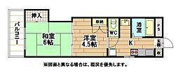 福岡県北九州市小倉北区三郎丸2丁目の賃貸マンションの間取り