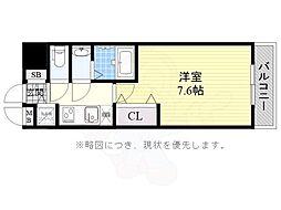 JR東海道・山陽本線 兵庫駅 徒歩14分の賃貸マンション 4階1Kの間取り