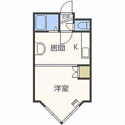 ローヤルハイツ栄通21[4階]の間取り