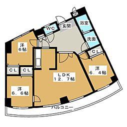 ツリーベル富士宮[2階]の間取り