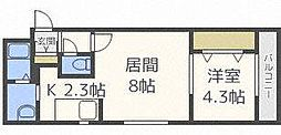 E−horizon麻生(旧:プライムコート麻生)[4階]の間取り