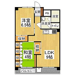 山科団地B棟[8階]の間取り