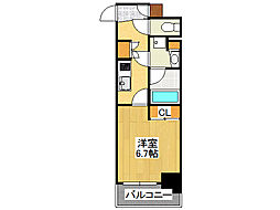 大阪府大阪市中央区北久宝寺町1丁目の賃貸マンションの間取り