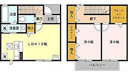 [テラスハウス] 東京都東村山市恩多町5丁目 の賃貸【/】の間取り