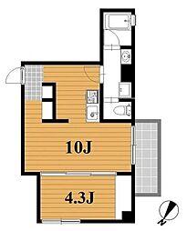 フレンドビル[2階]の間取り