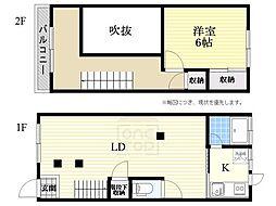 [一戸建] 大阪府大阪市浪速区戎本町2丁目 の賃貸【/】の間取り