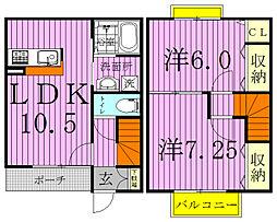 [テラスハウス] 千葉県我孫子市都部 の賃貸【/】の間取り