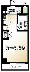 ライズイングサン朝霞台[212号室]の間取り