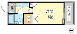 コーポ明日香[2階]の間取り