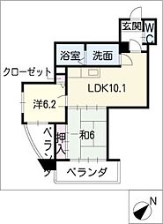 サンラードホーム[4階]の間取り