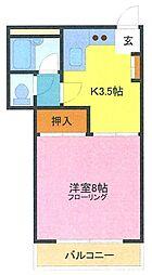 埼玉県さいたま市浦和区常盤1丁目の賃貸マンションの間取り