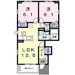 セレノカーサ2[1階]の間取り