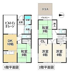 近鉄南大阪線 高田市駅 徒歩8分 4DKの間取り