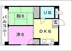 富士第三ビル[402 号室号室]の間取り