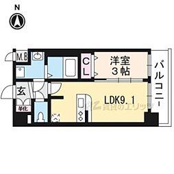 プレサンスTHEKYOTO澄華201 2階1LDKの間取り