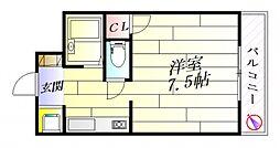 ラフォルテ恵和[2階]の間取り