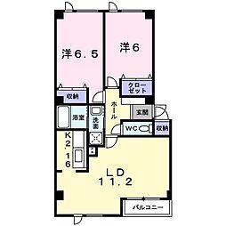 北海道札幌市北区屯田五条2丁目の賃貸アパートの間取り