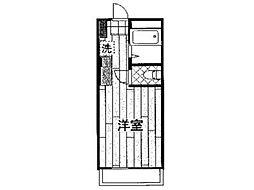 エクセルミドリ[4階]の間取り