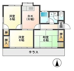 [一戸建] 長野県長野市若宮1丁目 の賃貸【/】の間取り