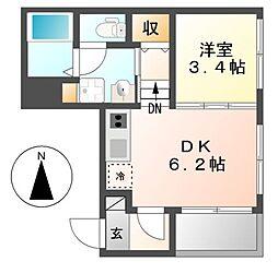 ハーモニック御器所[1階]の間取り