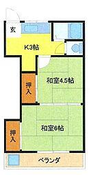 埼玉県さいたま市浦和区元町3丁目の賃貸アパートの間取り