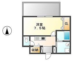 クレシェール大須[10階]の間取り