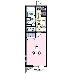 徳島県徳島市中吉野町1丁目の賃貸アパートの間取り