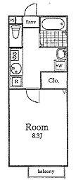 プリモフィオーレ[2階]の間取り