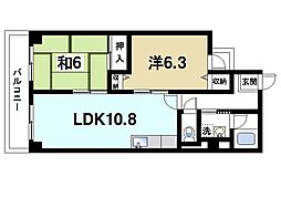 サンシャイン西大寺[6階]の間取り