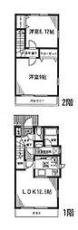 [テラスハウス] 神奈川県横浜市都筑区東山田4丁目 の賃貸【/】の間取り