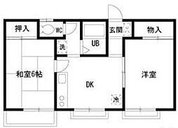 ハミング21[2階]の間取り