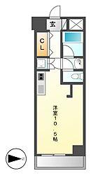 泉アパートメント[8階]の間取り